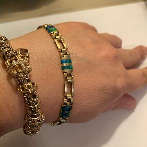 14k yellow gold heavy woman's bracelet